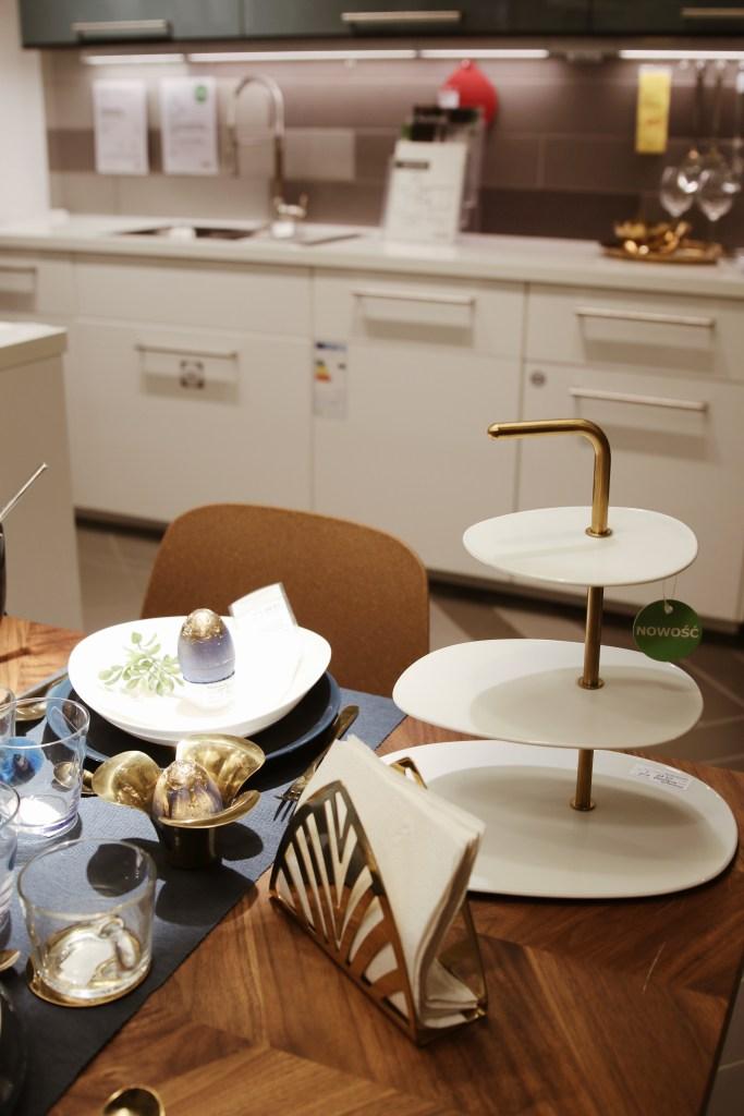 Modna patera ze złotem IKEA