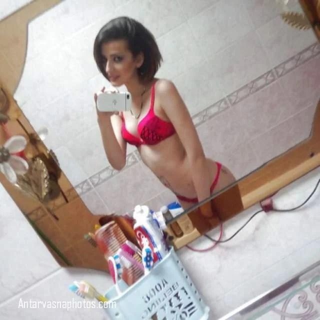 red panty bra me hot teen