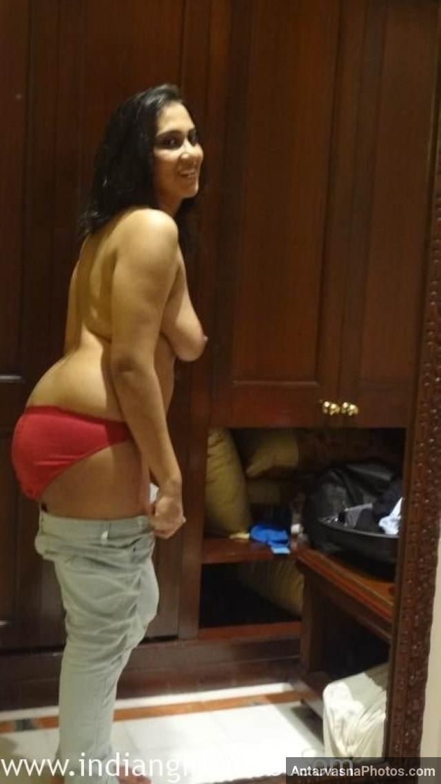 chudne ke liye pant utarti sexy aunty ki moti gaand in red panty