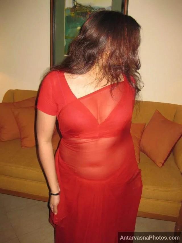 Red saree aur blouse me Padosan Ke Chudai Photos