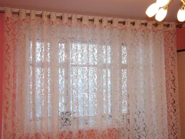 Тюль в зал - 100 фото необычных дизайнерских идей и ...