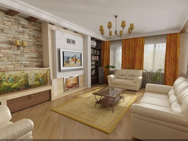 Дизайн зала в квартире - 150 фото вариантов интерьера зала ...