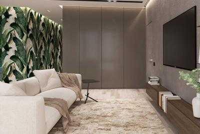 дизайн и интерьер кухни совмещенной с гостиной в современном стиле 5