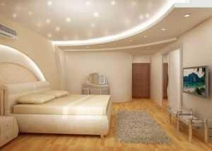 дизайн потолка в спальне 5