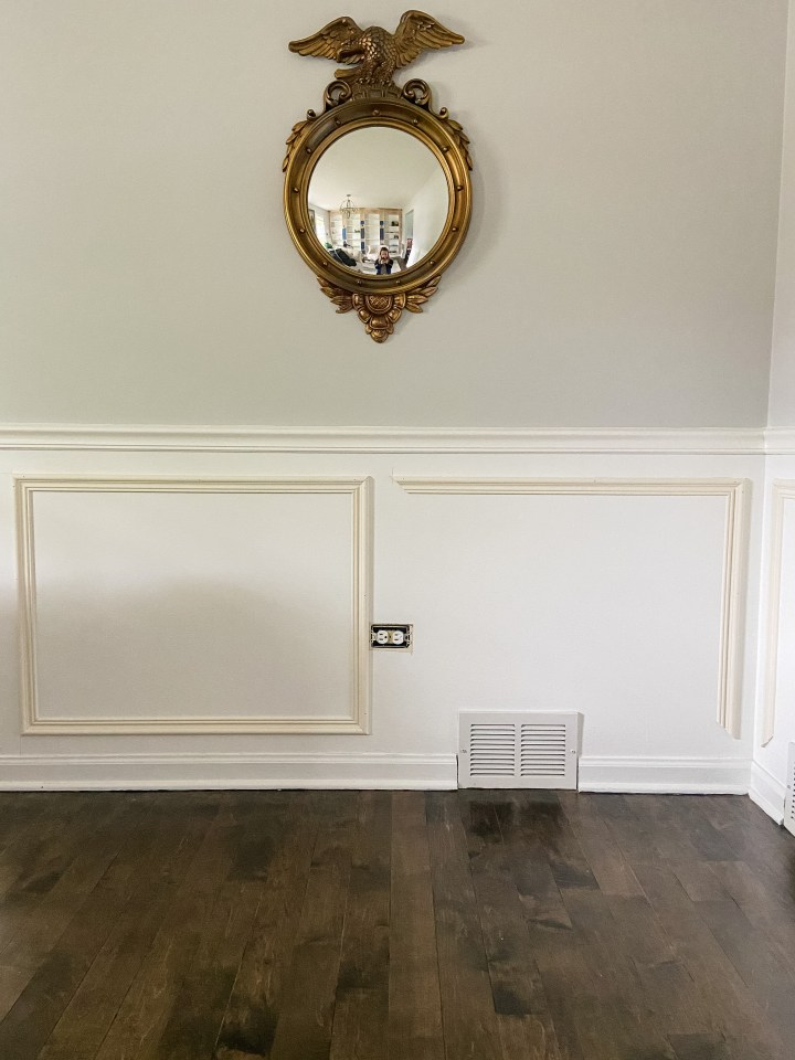 wall trim around electrical outlets