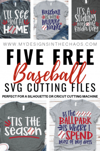 Download Free Baseball SVG Files for Silhouette or Cricut - My ...