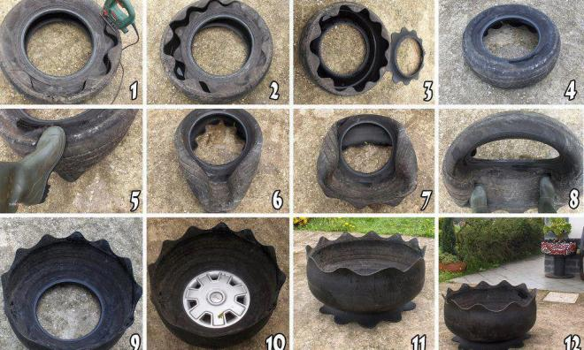 Diy ideas from old tires1