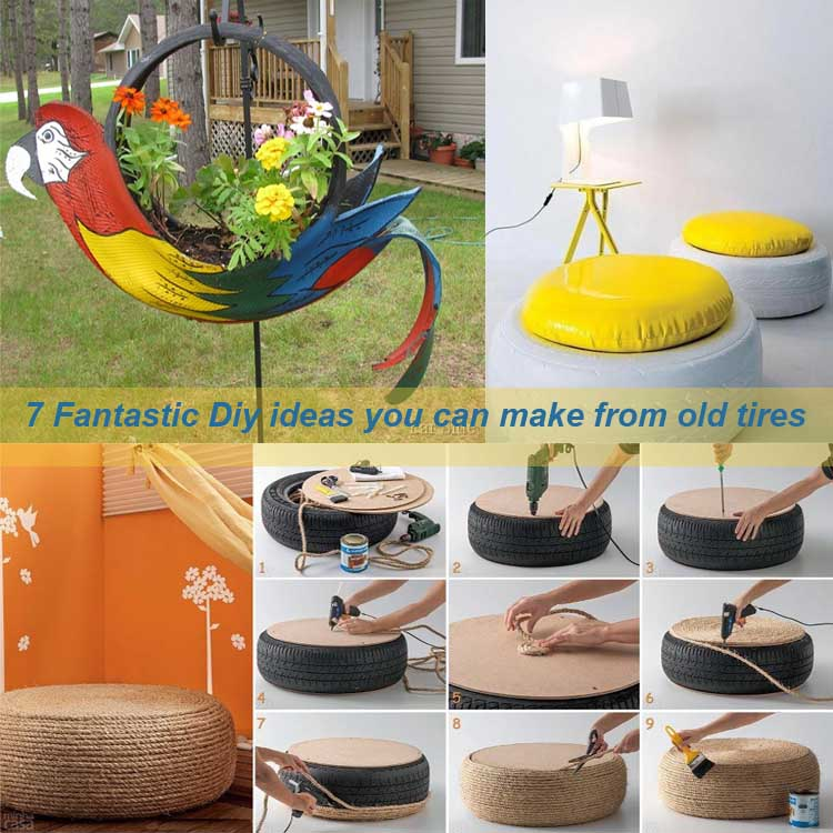 7 Fantastic Diy ideas you can make from old tires