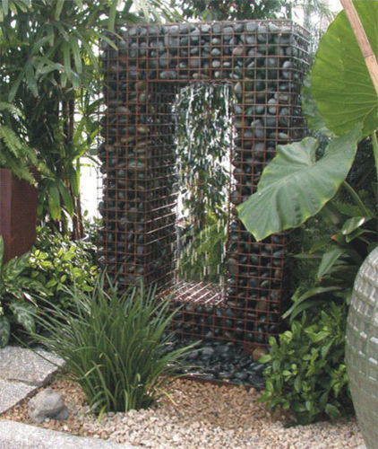 Diy craft ideas using wire mesh and Stones11