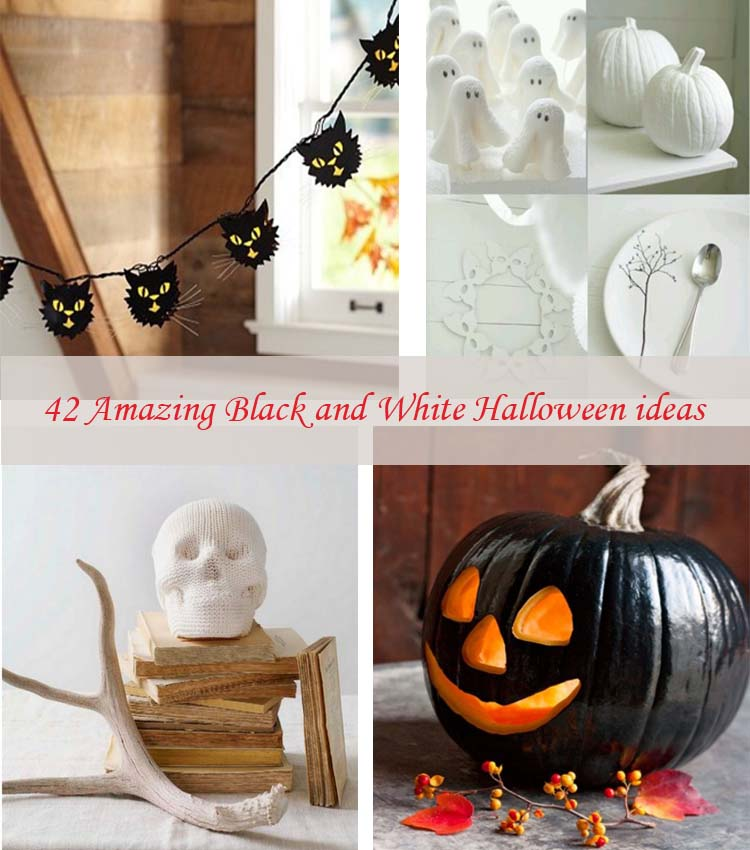 Black And White Halloween Ideas42 My Desired Home