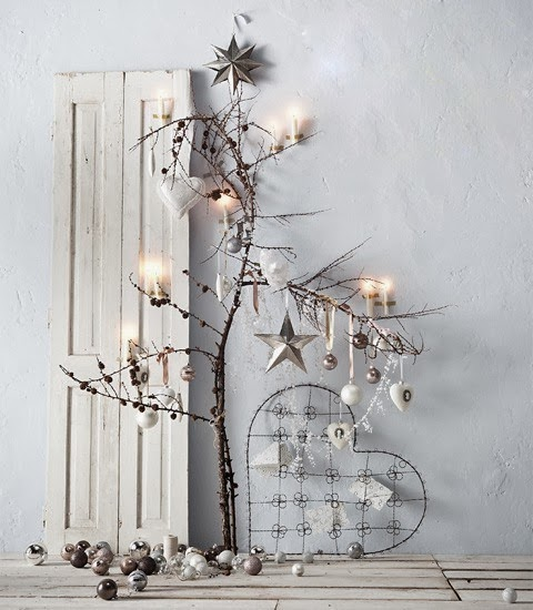 Decorating for Christmas with branches11