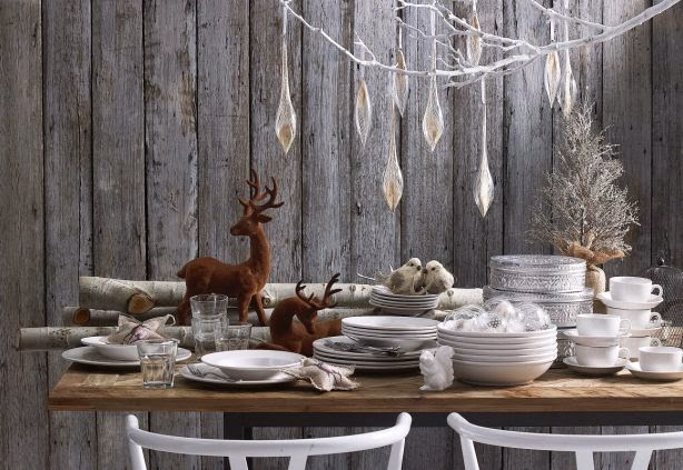Decorating for Christmas with branches16