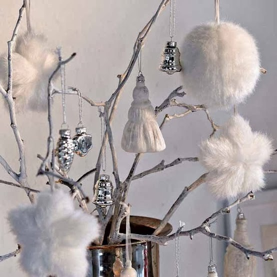 Decorating for Christmas with branches20