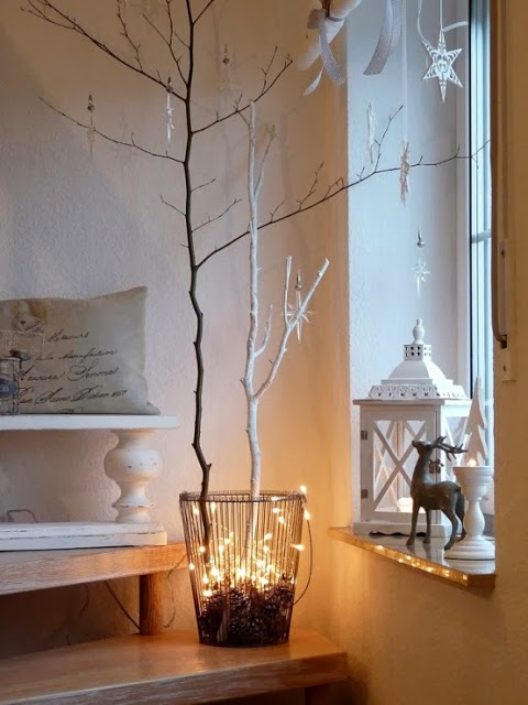 Decorating for Christmas with branches7