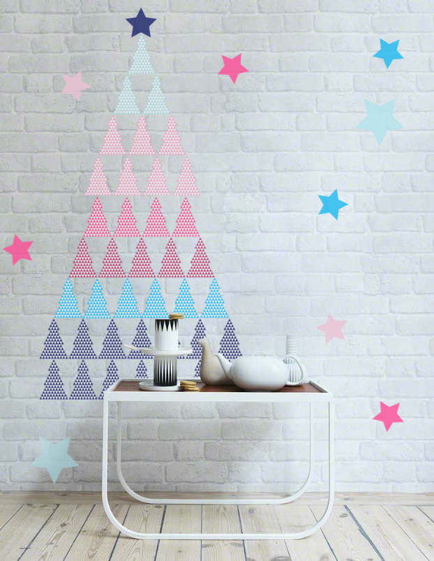 Diy adhesive Christmas Trees by Pixers