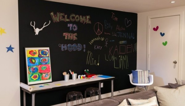 Blackboard in kids room9
