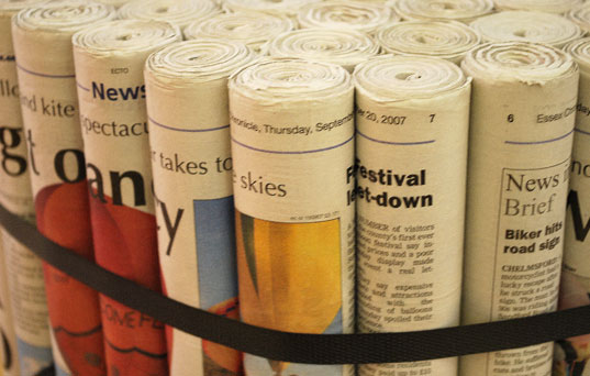 Diy Furniture made ​​from newspapers5