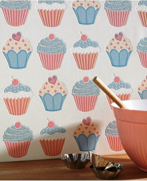 Wallpaper in the kitchen1