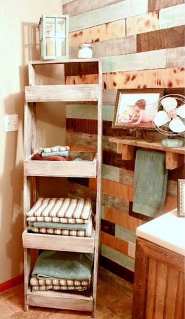 Clever ideas to organize your bath towels2