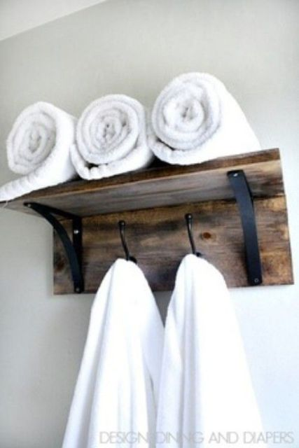 Clever ideas to organize your bath towels6