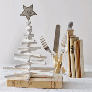 Christmas tree ideas from log and branches15