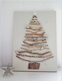 Christmas tree ideas from log and branches23