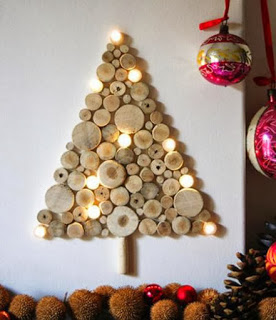 Christmas tree ideas from log and branches31