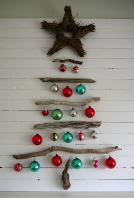 Christmas tree ideas from log and branches35