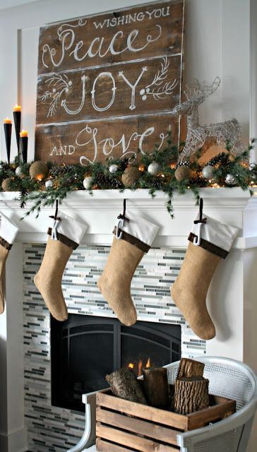 Rustic Crhistmas decor ideas2