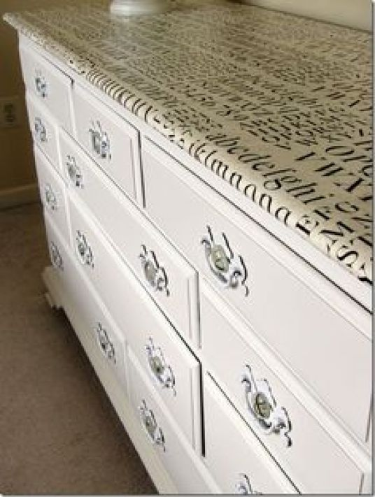 Furniture decoupage ideas2