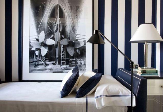 black and white stripes decor12