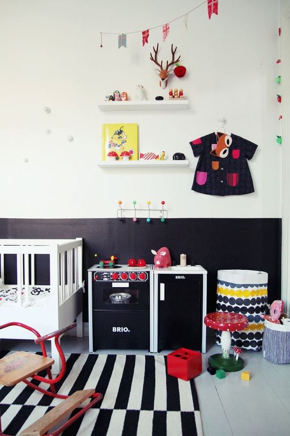 Black and white children's rooms ideas1