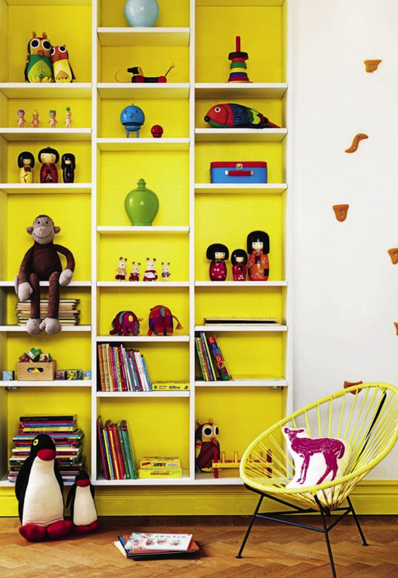 Kids rooms with color and pop details10