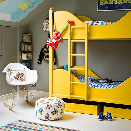 Kids rooms with color and pop details2