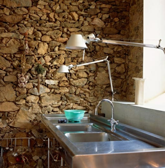 Exposed stone wall ideas1