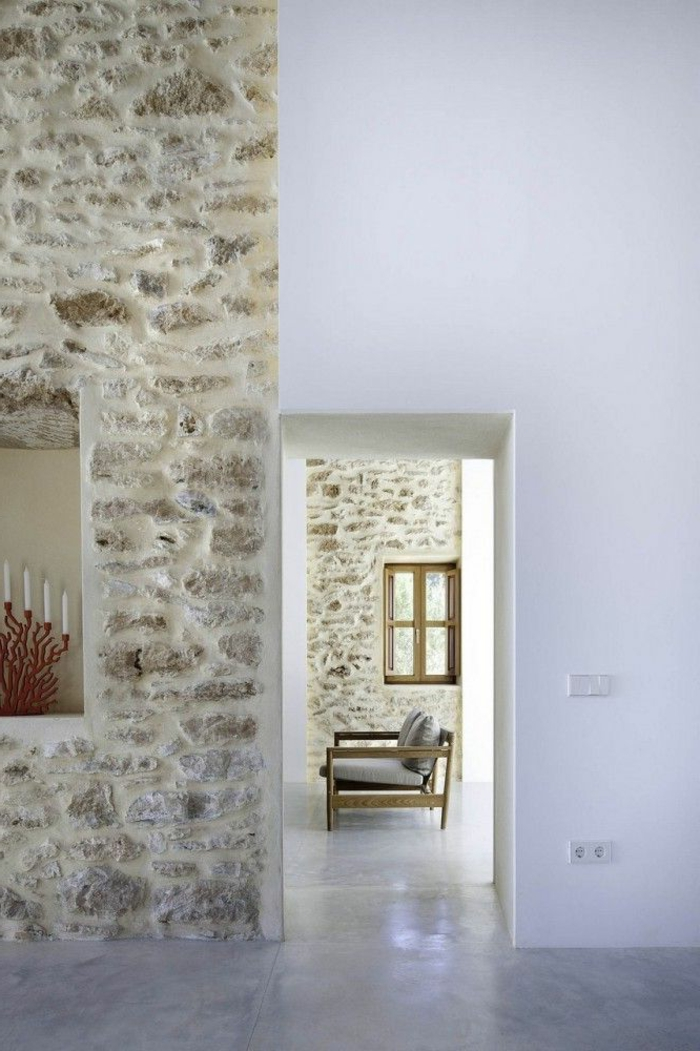 Exposed stone wall ideas15