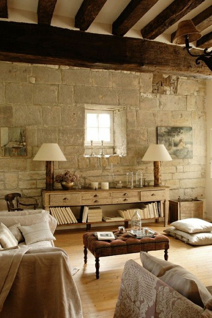 Exposed stone wall ideas49