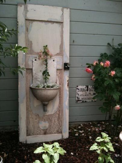 Decorate garden with recycling old doors17