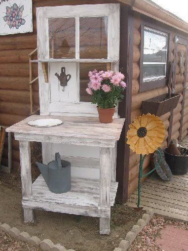 Decorate garden with recycling old doors19