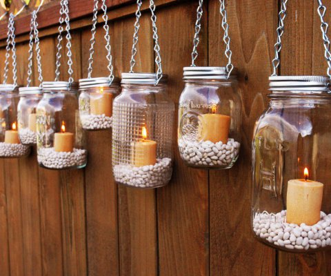 decorate you terrace with glass jars3