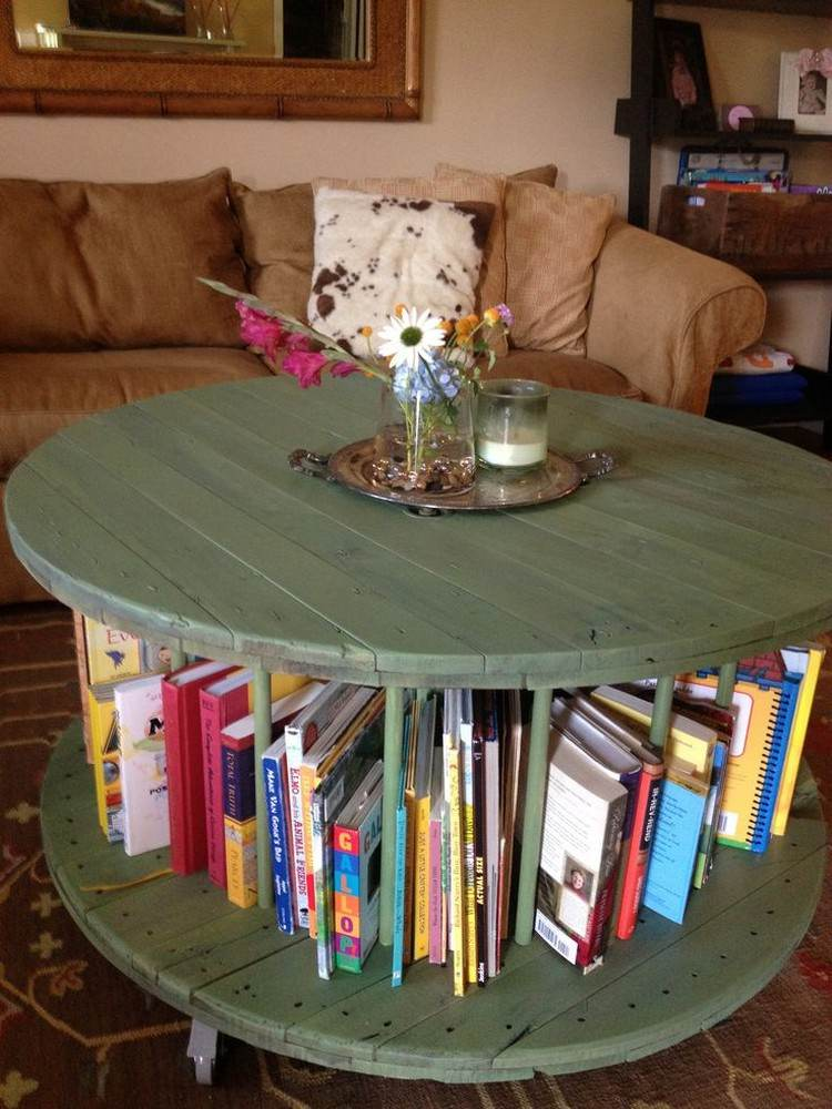 coffee table from wire spools (15)