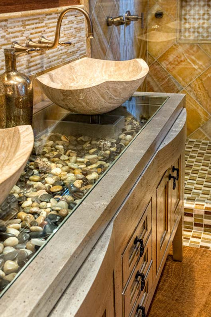 decorate your house with river stones11
