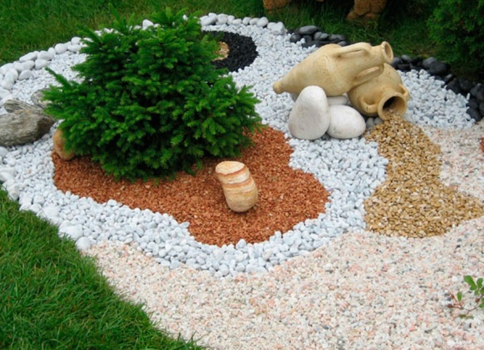 garden deco with rocks5