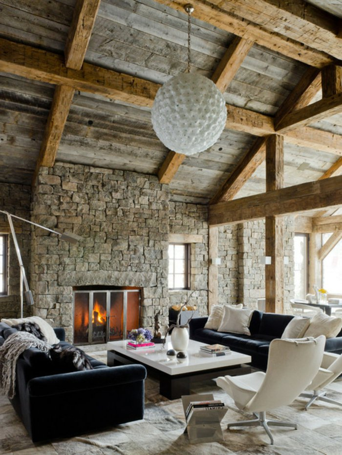 Rustic lounge ideas34