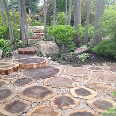 garden paths with wood18