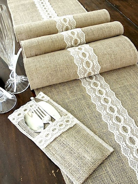 decorating ideas with burlap and lace (31)