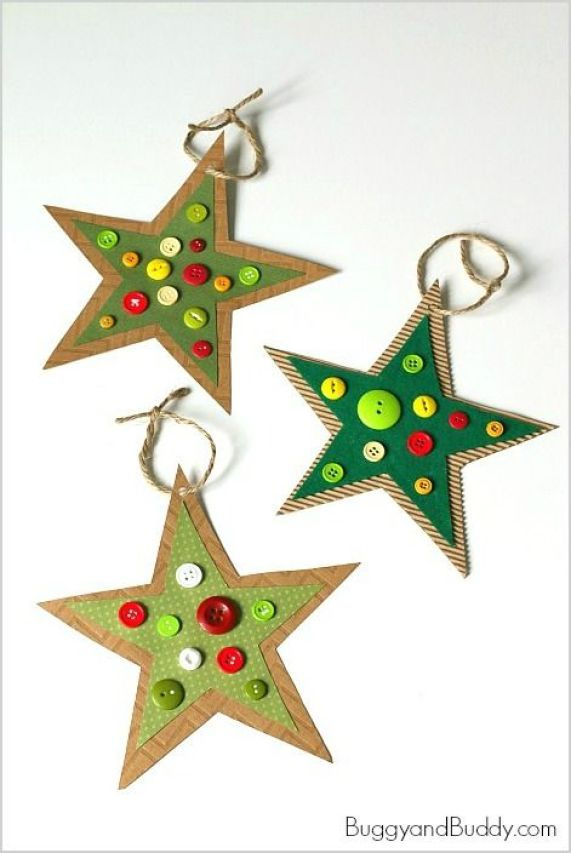 Christmas DIY crafts from buttons (14)