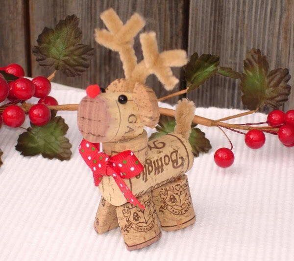 diy Christmas ornaments from corks (16)