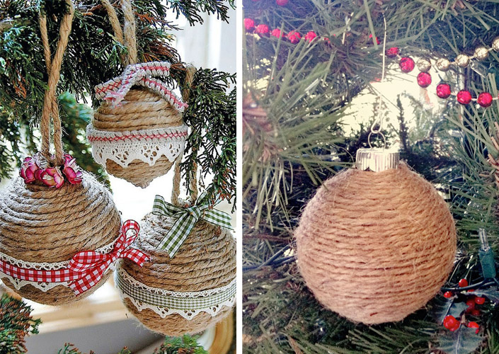 Christmas ornaments made of string (11)