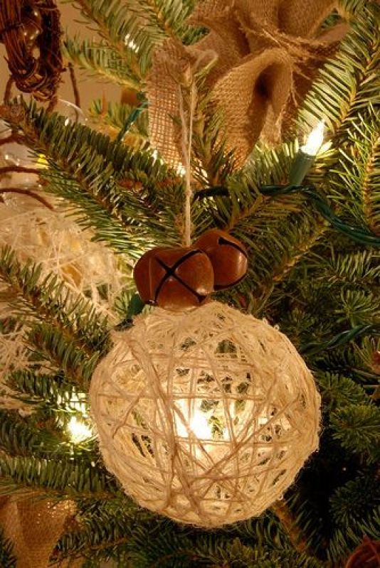 Christmas ornaments made of string (14)